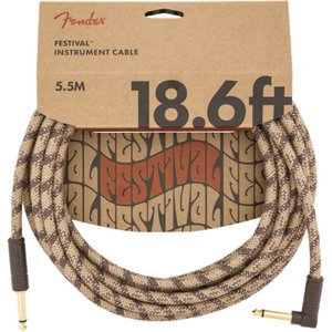 Fender 18.6' Angled Festival Instrument Cable Pure...
