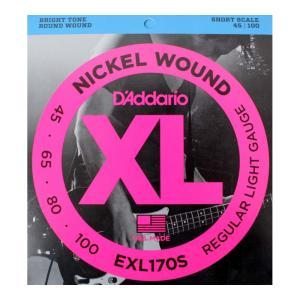 D'Addario EXL170S Regular Light Short Scale ショートスケ...