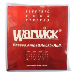 WARWICK 46200 RED nickel 4-string Set M 045-105 ベース弦|chuya-online