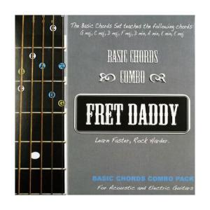 Fret Daddy コード教則シール エレキ/アコースティックギター用
