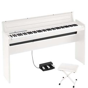 KORG LP-180 WH X型ピアノイス付き 電子ピアノ
