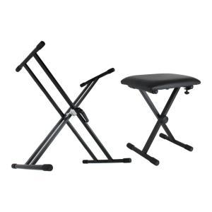Dicon Audio X型 キーボードスタンド ピアノ椅子 セット|chuya-online