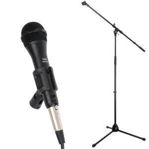 iSK DM-3600 ボーカル用 ダイナミックマイク 5mケーブル付き ブーム/ストレート兼用マイクスタンドセット|chuya-online