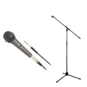 AUDIO-TECHNICA AT-X11 ダイナミックボーカルマイクロホン Dicon Audio マイクスタンド 2点セット|chuya-online