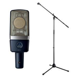 AKG C214 コンデンサーマイク Dicon Audio MS-003 マイクスタンド 2点セッ...