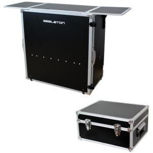 SEELETON SDJT 折りたたみ式 DJテーブル Dicon Audio DEC-40BL 7インチレコードケース 2点セット|chuya-online