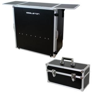 SEELETON SDJT 折りたたみ式 DJテーブル Dicon Audio DEC-30BL 7インチレコードケース 2点セット|chuya-online