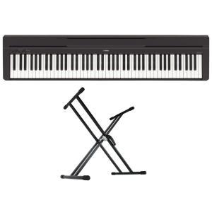 YAMAHA P-45B ブラック 電子ピアノ Dicon Audio KS-020 X型キーボードスタンド 2点セット|chuya-online