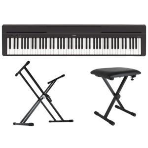 YAMAHA P-45B ブラック 電子ピアノ Dicon Audio KS-020 X型キーボード...