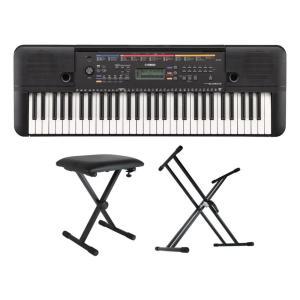 YAMAHA PSR-E263 PORTATONE 61鍵盤 電子キーボード Dicon Audio KS-020 X型キーボードスタンド キーボードベンチ 3点セット|chuya-online
