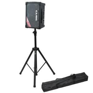 ROLAND CUBE Street EX BK ステレオ ポータブルアンプ Dicon Audio SS-062 スピーカースタンド 2点セット|chuya-online