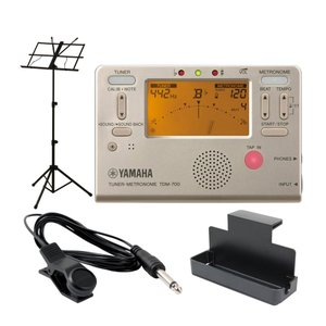 YAMAHA TDM-700G ゴールド チューナーメトロノーム ARIA AMS-40B 譜面台付き 4点セット|chuya-online