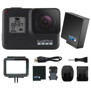 GoPro HERO7 Black 本体1台に予備の純正バッテリーをお付けしたセットです。