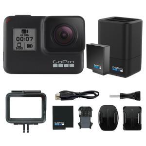 GoPro HERO7 Black 本体1台に純正充電器デュアルバッテリーチャージャーをお付けしたセ...