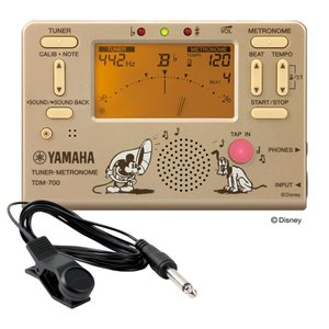 YAMAHA TDM-700DMK ディズニー ミッキーマウス チューナー メトロノーム FA-01 チューナー用コンタクトマイク付き 2点セット|chuya-online