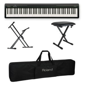 ROLAND FP-10 BK 電子ピアノ ポータブルピアノ X型スタンド/X型椅子/キャリングケー...