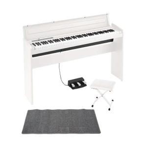 KORG LP-180 WH 電子ピアノ X型ピアノイス ピアノマット(グレイ)付きセット