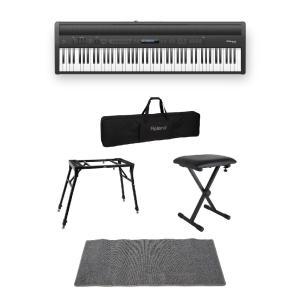 ROLAND FP-60 BK Digital Piano 電子ピアノ 4本脚スタンド/X型椅子/キ...