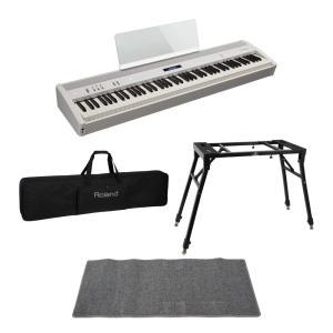 ROLAND FP-60 WH Digital Piano 電子ピアノ スタンド ケース ピアノマッ...