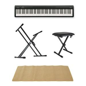 ROLAND FP-10 BK 電子ピアノ ポータブルピアノ X型スタンド X型椅子 ピアノマット(...