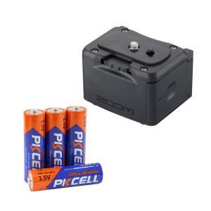 ZOOM BCQ-2n Q2n・Q2n-4K用 外部バッテリーケース & 単3アルカリ電池 4本パッ...