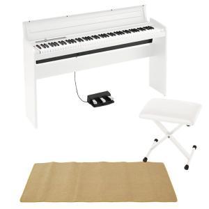 KORG LP-180 WH 電子ピアノ X型ピアノイス ピアノマット(クリーム)付き セット