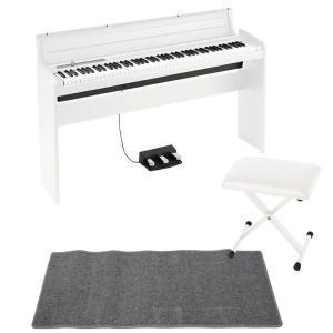 KORG LP-180 WH 電子ピアノ X型ピアノイス ピアノマット(グレイ)付き セット