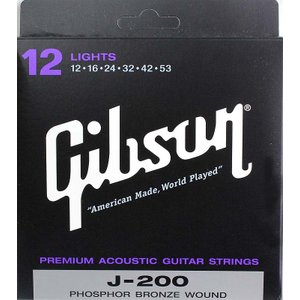 GIBSON SAG-J200L アコースティックギター弦×...
