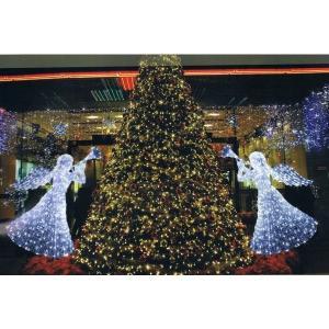 【LEDクリスタルグロー エンジェル】(防雨仕様) クリスマス Xmas ライト LED オーナメント キャンドル|chw