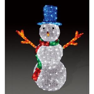 【クリスマス・イルミネーション】 LED電飾 クリスタルグロー スノーマン/大 (防雨仕様)|chw