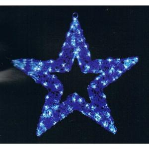 クリスマス LED電飾 クリスタルグロー プレーンスター(ブルー) 防雨仕様|chw