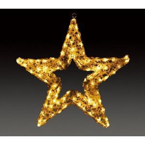 【LEDクリスタルグロー プレーンスター(ウォームホワイト)各種】(防雨仕様)    クリスマス Xmas   ライト LED オーナメント キャンドル|chw