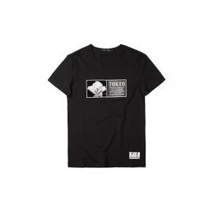 半袖Tシャツ  メンズ カジュアル Uネック 丸首 デザイン ブラック ホワイト 黒 白 P6051|chy