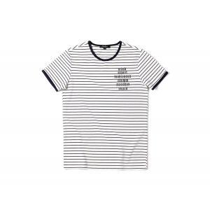 半袖Tシャツ  メンズ カジュアル Uネック 丸首 デザイン ホワイト 白 S6233|chy