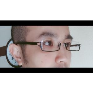 スクエア 眼鏡 フレーム アンダーリム メガネ 逆ナイロール メンズ レディース 小物 4色|chy