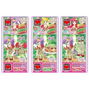 ちゃおオリジナル プリパラプリチケ クリスマスコーデBセット:メリーメリーカップケーキコーデセット|ciao-shop