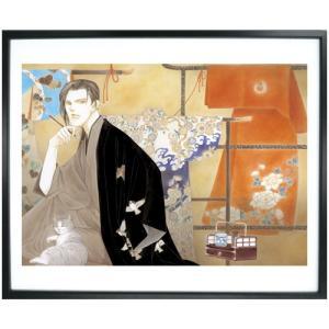 波津彬子先生直筆サイン入り!超高画質複製原画プリマグラフィ「ふるぎぬや紋様帳」(サイズ中)|ciao-shop