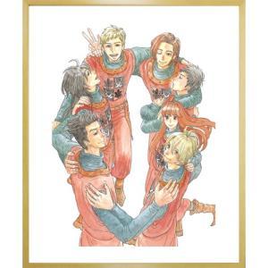 岩本ナオ先生直筆サイン入り超高画質複製原画プリマグラフィ「マロニエ王国の七人の騎士A」(サイズ小)|ciao-shop