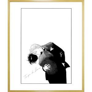 吉田秋生先生超高画質複製原画プリマグラフィ「BANANA FISH A」(サイズ小、モノクロ)|ciao-shop