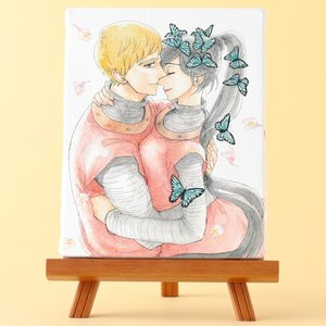 岩本ナオ先生「マロニエ王国の七人の騎士」イーゼル付きキャンバスアートA(中)|ciao-shop