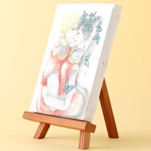 岩本ナオ先生「マロニエ王国の七人の騎士」イーゼル付きキャンバスアートA(中)|ciao-shop|02
