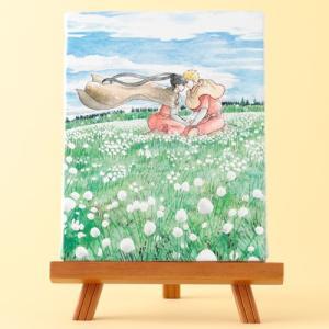 岩本ナオ先生「マロニエ王国の七人の騎士」イーゼル付きキャンバスアートB(中)|ciao-shop