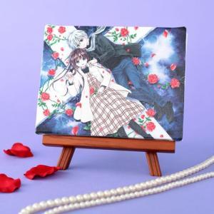 くまがい杏子先生「チョコレート・ヴァンパイア」イーゼル付きキャンバスアートA(中)|ciao-shop