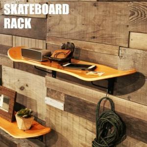 スケートボード ラック  スケボー デッキ ウォールラック ウォールシェルフ シェルフ 棚 壁掛け 壁面 収納 木製 西海岸 インダストリアル