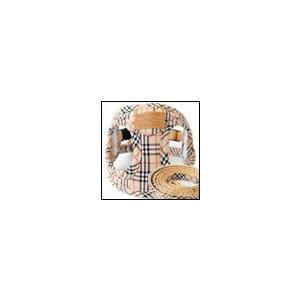 犬の胴輪 ソフトフェザーハーネス ポケットタータン ブラウン リード付き LAMZY ラムジー|ciera