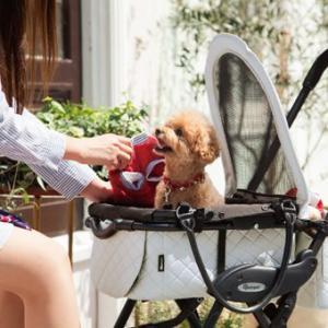 犬用バギー コムペット ミリミリ ジュニアプレミアム プレミアムホワイト compet milimili|ciera|04