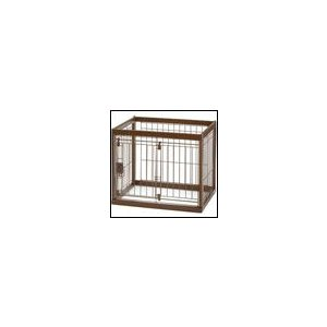 木製ペットサークル 60-50 ダークブラウン リッチェル 犬用サークル|ciera