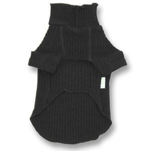 犬の服 秋冬 新作 マッシュルームリブタートルセーター ブラック DOG SIGN ドッグサイン 洋服 ドッグウェア|ciera|03