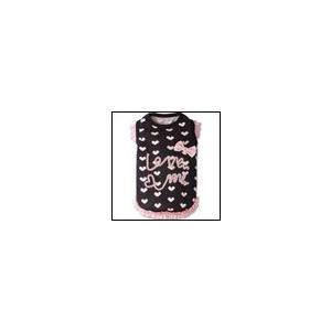 犬の服 秋 冬 新作 LoveMeタンクトップ ブラック Appleapple アップルアップル 洋服 ドッグウェア|ciera