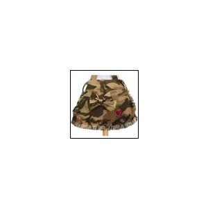 犬の服 春 夏 新作 クークチュール アロマ・デュ・ワン カモフラスカート ベージュ aroma de wan 洋服 ドッグウェア|ciera
